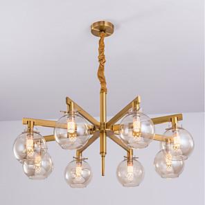 cheap Candle-Style Design-JLYLITE 8-Light 85 cm Chandelier Metal Glass Sputnik Electroplated Modern 110-120V / 220-240V
