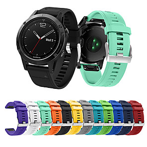 cheap Smartwatch Bands-Watch Band for Fenix 5 / Garmin Quatix 5 / Garmin Quatix 5 Sapphire Garmin Sport Band Silicone Wrist Strap