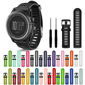 cheap Synthetic Lace Wigs-Watch Band for Fenix 3 HR / Fenix 3 Sapphire / Fenix 3 Garmin Sport Band Silicone Wrist Strap