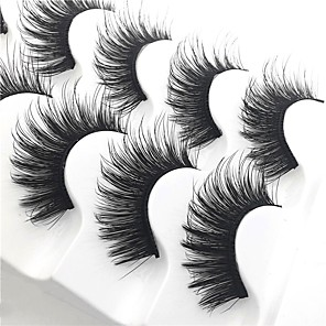 cheap Makeup Brush Sets-Eyelash Extensions 10 pcs Thick Multi-tool Pro Natural Curly Fiber Practise Daily Wear Full Strip Lashes Thick - Makeup Daily Makeup Glamorous & Dramatic High Quality Cosmetic Grooming Supplies