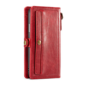 cheap iPhone Cases-CaseMe Case For Apple iPhone X Wallet / Card Holder Full Body Cases Solid Colored Hard PU Leather for iPhone X / iPhone 8 Plus / iPhone 8