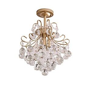 cheap Pendant Lights-3-Light 35 cm Crystal Chandelier Metal Crystal Painted Finishes Modern 110-120V / 220-240V