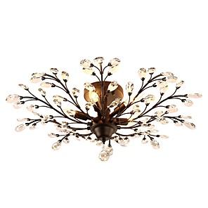 cheap Ceiling Lights-JLYLITE 5-Light 78 cm Mini Style Flush Mount Lights Metal Crystal Painted Finishes Rustic / Lodge / Retro 110-120V / 220-240V / E12 / E14