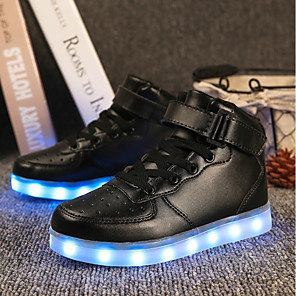 cheap Men's Sneakers-Boys' Sneakers LED / LED Shoes PU Little Kids(4-7ys) / Big Kids(7years +) LED White / Black / Red Fall / Rubber