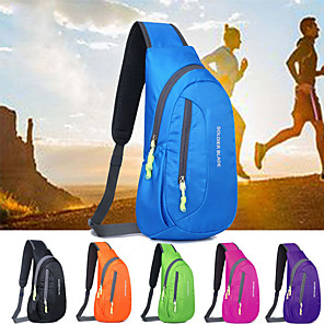 cheap Backpacks & Bags-8 L Lightweight Packable Backpack Hiking Sling Backpack Breathable Straps - Lightweight Breathable Rain Waterproof Compact Outdoor Running Fishing Hiking Polyester Black Purple Fuchsia / Yes
