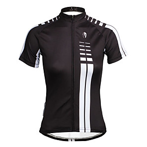 cheap Cycling Jerseys-ILPALADINO Women's Short Sleeve Cycling Jersey Black Plus Size Bike Jersey Top Mountain Bike MTB Road Bike Cycling Breathable Quick Dry Ultraviolet Resistant Sports Clothing Apparel / Stretchy