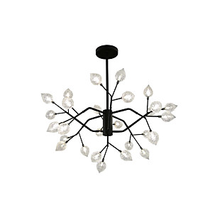 cheap Indoor Wall Lights-ZHISHU 80 cm Mini Style Chandelier Metal Glass Sputnik Painted Finishes Artistic / Nature Inspired 110-120V / 220-240V