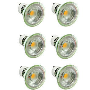 cheap LED Spot Lights-6pcs 5 W LED Spotlight 500 lm GU10 MR16 1 LED Beads COB Dimmable Decorative Warm White Cold White 220-240 V