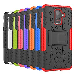 cheap Samsung Case-Case For Samsung Galaxy J8 (2018) / J7 (2018) / J6 (2018) Shockproof / with Stand Back Cover Tile / Armor Hard PC