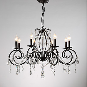 cheap Candle-Style Design-JLYLITE 8-Light 78 cm Candle Style Chandelier Metal Candle-style Painted Finishes Retro / Traditional / Classic 110-120V / 220-240V