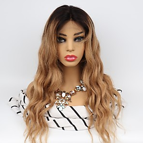 cheap Human Hair Wigs-Unprocessed Human Hair Lace Front Wig Middle Part Wendy style Brazilian Hair Body Wave Wig 130% Density with Baby Hair Easy dressing Natural Hairline 100% Virgin Unprocessed Women's Long Human Hair