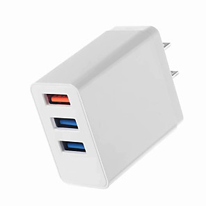 cheap Wall Chargers-Portable Charger USB Charger US Plug Multi-Output / QC 3.0 3 USB Ports 3.1 A 100~240 V for Universal