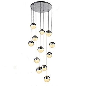 cheap Island Lights-12 Bulbs QIHengZhaoMing 50 cm Chandelier Metal Electroplated Traditional / Classic 110-120V / 220-240V