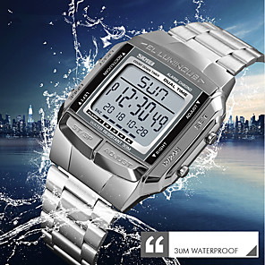 cheap Anime Costumes-SKMEI Men's Dress Watch Wrist Watch Digital Watch Digital Classic Water Resistant / Waterproof Stainless Steel Silver / Gold / Rose Gold Digital - Rose Gold Black Gold / Japanese / Stopwatch