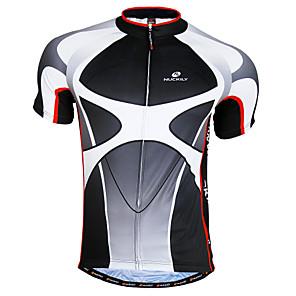 cheap Cycling Jerseys-Nuckily Men's Short Sleeve Cycling Jersey Black+Gray Patchwork Bike Jersey Top Mountain Bike MTB Road Bike Cycling Breathable Quick Dry Sports Clothing Apparel / Advanced / Advanced / SBS Zipper