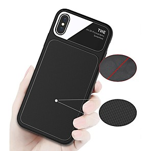 cheap iPhone Cases-Case For Apple iPhone X / iPhone 8 Plus / iPhone 8 Shockproof / Frosted Back Cover Solid Colored Soft TPU