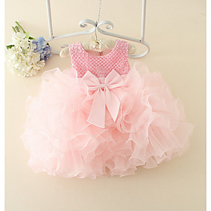 cheap Movie & TV Theme Costumes-Baby Girls' Basic Solid Colored Sleeveless Cotton Dress Blushing Pink / Toddler