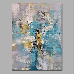 cheap Abstract Paintings-Oil Painting Hand Painted - Abstract Landscape Comtemporary Modern Stretched Canvas / Rolled Canvas