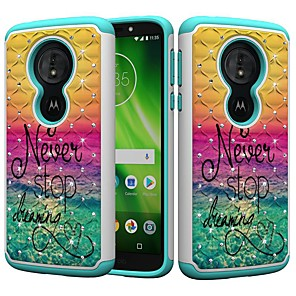 cheap Other Phone Case-Case For Motorola MOTO G6 / Moto G6 Play / Moto E5 Play Shockproof / Rhinestone / Pattern Back Cover Word / Phrase / Rhinestone Hard PC