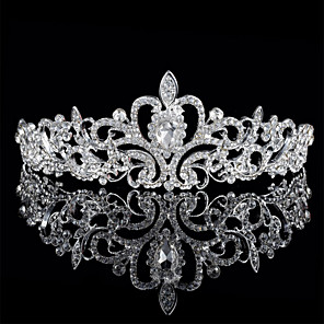 cheap Wedding Flowers-Alloy Tiaras with Rhinestone 1 Piece Wedding Headpiece