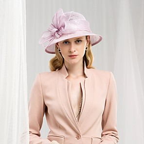 cheap Historical & Vintage Costumes-100% Linen Kentucky Derby Hat / Hats with Bowknot 1pc Wedding / Party / Evening Headpiece