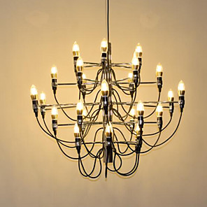 cheap Sputnik Design-Ecolight™ 30-Light 85 cm Creative Candle Style Chandelier Metal Candle-style Electroplated Artistic Chic & Modern 110-120V 220-240V