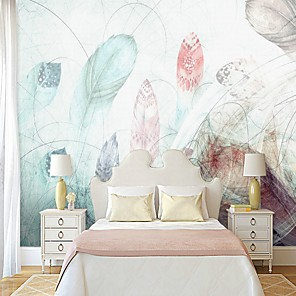 cheap Wallpaper-Wallpaper / Mural Canvas Wall Covering - Adhesive required Painting / Art Deco / Tile