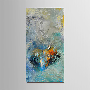 cheap Abstract Paintings-Oil Painting Hand Painted - Abstract Landscape Modern Stretched Canvas