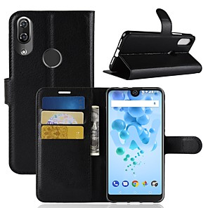 cheap Other Phone Case-Case For Wiko Wiko Wim lite / Wiko Wim / Wiko View 2 Pro Wallet / Card Holder / Flip Full Body Cases Solid Colored Hard PU Leather