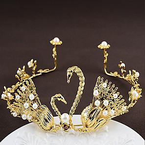 cheap Hair Jewelry-Alloy Tiaras with Rhinestone 1 Piece Wedding / Party / Evening Headpiece