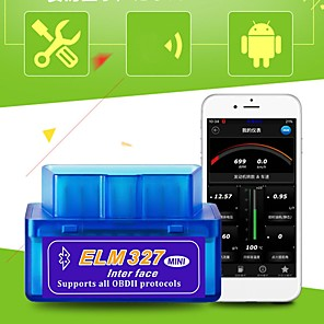 cheap OBD-Mini ELM 327 Bluetooth OBD2 OBDII V2.1 Car Diagnostic Interface Tool Car Fault Detector Vehicle Fault Code Reader Scanner