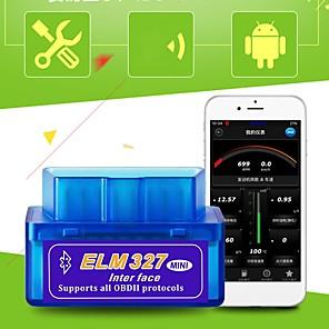 Недорогие Приборы бортовой диагностики-mini elm 327 bluetooth obd2 obdii v2.1 автомобильный диагностический интерфейс инструмент детектор неисправностей автомобиля считыватель кодов неисправностей автомобиля сканер