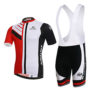 cheap Cycling Jersey & Shorts / Pants Sets-XINTOWN Men's Women's Short Sleeve Cycling Jersey with Bib Shorts Red and White Plus Size Bike Clothing Suit Breathable 3D Pad Quick Dry Ultraviolet Resistant Limits Bacteria Winter Sports Elastane
