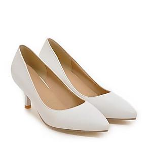 cheap Women's Heels-Women's Heels Stiletto Heel PU Spring Black / White / Beige / Daily