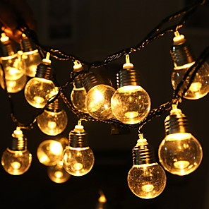 cheap LED String Lights-5m String Lights 20 LEDs 1 set Warm White Decorative 220-240 V