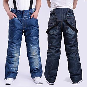 cheap Cycling Jersey & Shorts / Pants Sets-Men's Women's Ski / Snow Pants Skiing Camping / Hiking Snowboarding Thermal / Warm Waterproof Windproof Denim Cotton Bib Pants Ski Wear