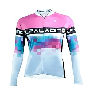 povoljno Biciklističke majice-ILPALADINO Žene Dugih rukava Biciklistička majica Zima Runo Obala Bicikl Biciklistička majica Majice Brdski biciklizam biciklom na cesti Ovlaživanje Ultraviolet Resistant Sportski Odjeća