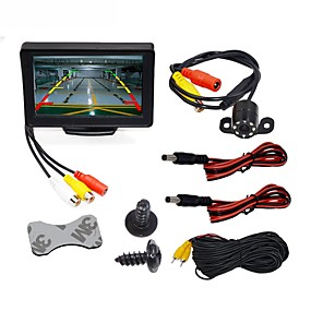 cheap GPS Tracking Devices-BYNCG WG4.3T-4LED 4.3 inch TFT-LCD 480TVL 480p 1/4 inch color CMOS Wired 120 Degree 1 pcs 120 ° 4.3 inch Rear View Camera / Car Reversing Monitor / Car Rear View Kit Waterproof / LED Indicator