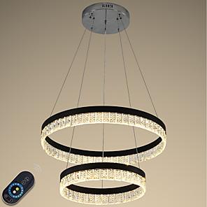povoljno Dizajn kruga-VALLKIN 2-Light 60 cm Crystal / Prilagodljiv / Zatamnjen Lusteri Metal Cirkularno Electroplated / Slikano završi LED / Moderna 110-120V / 220-240V