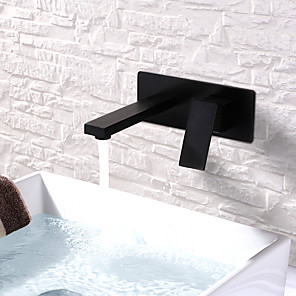 cheap Bathroom Sink Faucets-Bathroom Sink Faucet - Widespread /  Design Painted Finishes Wall Mounted Single Handle Two HolesBath Taps