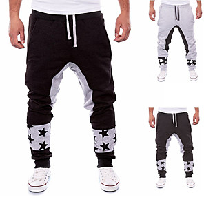 cheap Running & Jogging Clothing-Men's Sweatpants Joggers Jogger Pants Track Pants Sweatpants Athleisure Wear Bottoms Drawstring Fitness Gym Workout Breathable Anatomic Design Soft Sport Dark Grey Black Grey Solid Colored