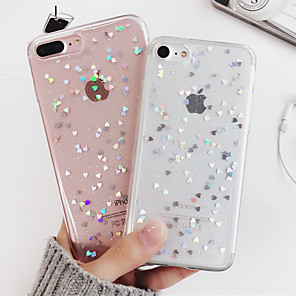 cheap iPhone Cases-Case For Apple iPhone XS / iPhone X / iPhone 8 Plus Shockproof / Translucent Back Cover Heart / Cartoon Soft TPU
