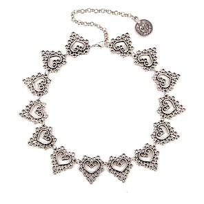 cheap Necklaces-Women's Choker Necklace Hollow Out Heart Ladies Doll's Lolita Alloy Silver 35+5 cm Necklace Jewelry 1pc For Daily Festival