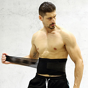 cheap Fitness Gear & Accessories-Protective Gear Waist Trimmer / Sauna Belt Nylon Stainless steel Durable Breathable Exercise & Fitness Weightlifting Workout For Men Women Waist Waist & Back