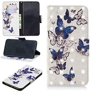cheap iPhone Cases-Case For Apple iPhone XS / iPhone XR / iPhone XS Max Wallet / Card Holder / with Stand Full Body Cases Butterfly Hard PU Leather