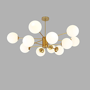 cheap Indoor Wall Lights-12 Bulbs 104 cm Creative Chandelier Metal Glass Sputnik Gold / Painted Finishes Modern 110-120V / 220-240V