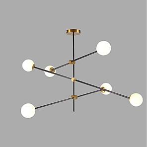 cheap Pendant Lights-6-Light 100 cm Creative Chandelier Metal Glass Sputnik Gold / Painted Finishes Contemporary / Artistic 110-120V / 220-240V