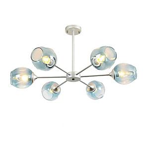 cheap Globe Design-QINGMING® 6-Light 90 cm Mini Style Chandelier Metal Glass Mini Painted Finishes Artistic / Traditional / Classic 110-120V / 220-240V