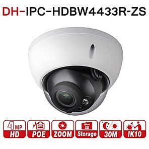 cheap Outdoor IP Network Cameras-Dahua 4MP Varifocal Poe IP Security Camera IPC-HDBW4433R-ZS 2.7mm~13.5mm Lens Motorized 5X Optical Zoom Outdoor Indoor Video Surveillance Camera Dome IR 50m