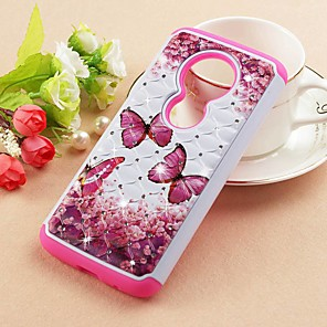 cheap Samsung Case-Case For Motorola Moto Z3 Play / MOTO G6 / Moto G6 Play Rhinestone / Pattern Back Cover Butterfly Hard PU Leather